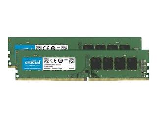 Crucial 32GB (2x16GB) DDR4-2666 CL19 RAM UDIMM Speicher Kit (CT2K16G4DFRA266) -