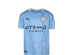 Puma Manchester City 2020/2021 Kinder Fußball-Trikot Heim Größe: 128