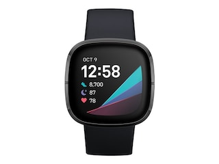 Fitbit Sense Stainless Stell, Silikon, S, L, Carbon/Graphit -
