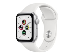Apple Watch Series SE GPS 40mm Aluminiumgehäuse Silber Sportarmband Weiß MYDM2FD/A