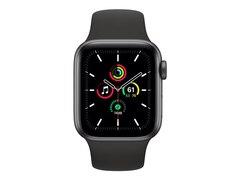 Apple Watch Series SE GPS 40mm Aluminiumgehäuse Space Grau Sportarmband Schwarz MYDP2FD/A