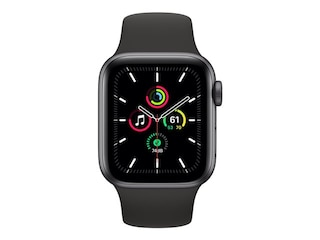 Apple Watch Series SE GPS 40mm Aluminiumgehäuse Space Grau Sportarmband Schwarz MYDP2FD/A -