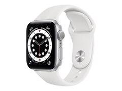 Apple Watch Series 6 GPS 40mm Aluminiumgehäuse Silber Sportarmband Weiß MG283FD/A
