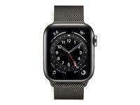 Apple Watch Series 6 LTE 40mm Edelstahlgehäuse Graphit Milanaisearmband Graphit (M06Y3FD/A)