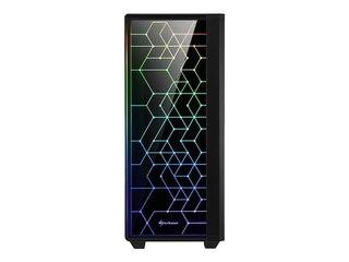 Sharkoon RGB LIT 100, Tower-Gehäuse, schwarz -