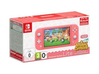 Nintendo Switch Lite Koralle inkl. Animal Crossing und 3 Monate Online Mitgliedschaft -