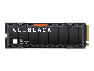 Western Digital Black SN850 NVMe SSD 1 TB  M.2 PCIe Gen4 mit Kühlkörper (WDS100T1XHE) -