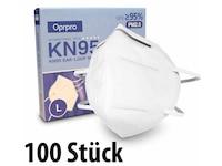 Oprpro KN95 Masken mit anpassbarem Nasenbügel (100 Stück)