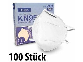 Oprpro KN95 Masken mit anpassbarem Nasenbügel (100 Stück) -