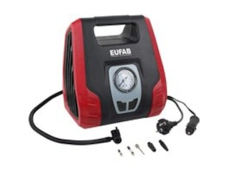 EAL Kompressor 8.3 bar 12V Adapter zum Betrieb per Kabel, Analoges Manometer -