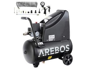 Arebos Druckluftkompressor Luftkompressor 24L 1100W -