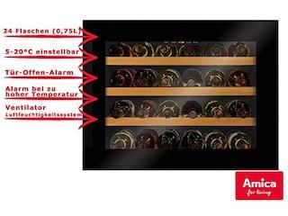Amica WK 341 200 S Einbau-Weinlagerschrank schwarz -