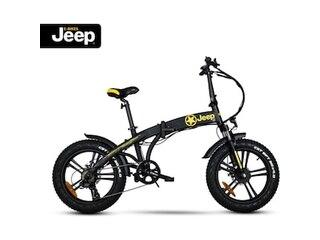 "Jeep Fold FAT E-Bike FR 7020, 20"" Kompaktrad, Falt-E-Bike, 7-Gang Kettenschaltung, black -"