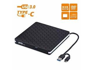Amicool Externes DVD/CD Brenner und -Lesegerät mit USB 3.0 Type-C (BT686) -