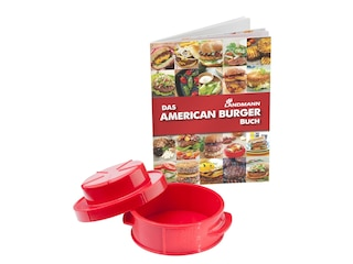 "Landmann Grill-Set ""American Burger"" rot mit Rezeptbuch ""Selection"" (08525) -"