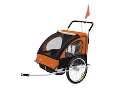 Homcom 2 in1 Kinderfahrradanhänger / Jogger orange/schwarz