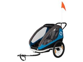 Hamax Fahrradanhänger TRAVELLER (incl. bicycle arm & stroller wheel) blau/grau -