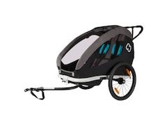 Hamax Fahrradanhänger TRAVELLER (incl. bicycle arm & stroller wheel) schwarz