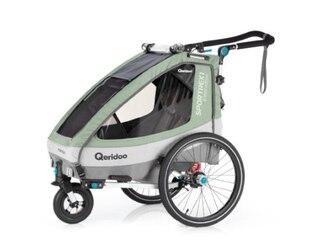 Qeridoo Kinderfahrradanhänger Sportrex1 Limited Edition Mint -