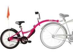 Kazam Tandem Fahrradanhänger Link white-pink