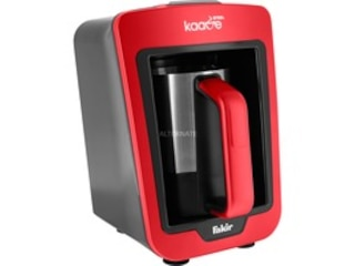Fakir Kaave Steel Mokkamaschine rot/schwarz -