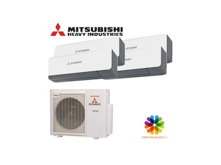 Mitsubishi Heavy Wandgerät Multi Split Set 4 x SRK20ZS-WB / SCM71ZS-W 4 x 2 kW weiß-schwarz -