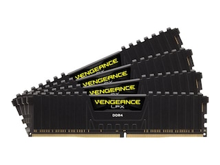 Corsair Vengeance LPX Schwarz 64GB DDR4 Kit 3200, CL16, (4x16GB) (CMK64GX4M4E3200C16) -